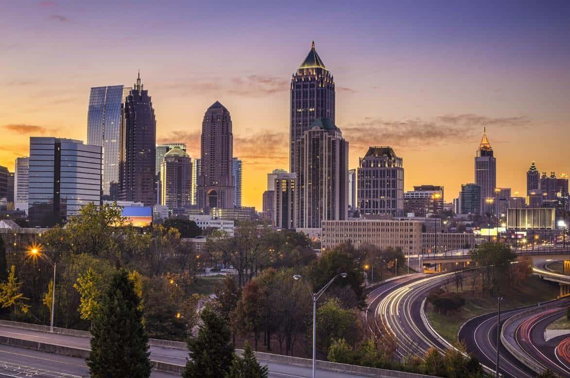 Atlanta skyline View From Marketing Company Window