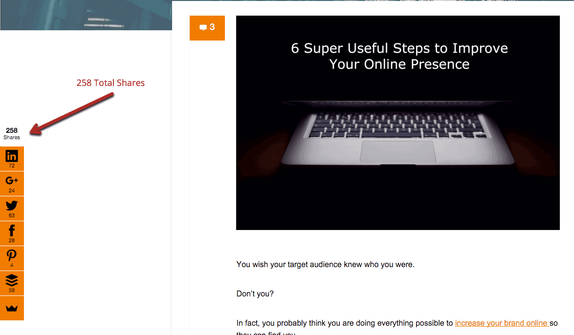 Improve online marketing presence