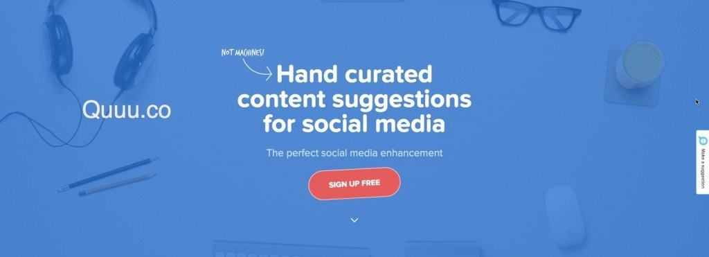 Quuu.co Social media marketing