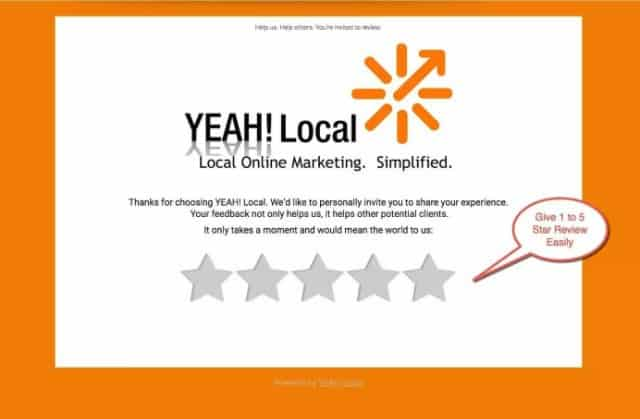 Yeah local review website