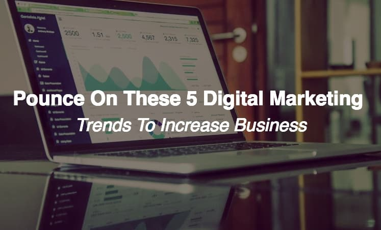 Pounce on These 5 Digital Marketing Trends to Increase Business