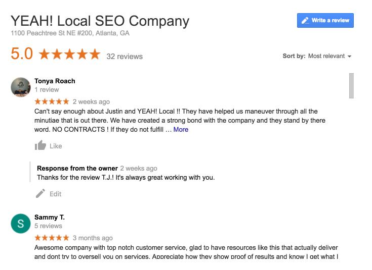 YEAH! Local Reviews