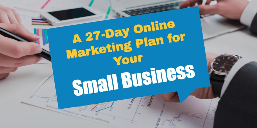 27 Day Online Marketing Plan