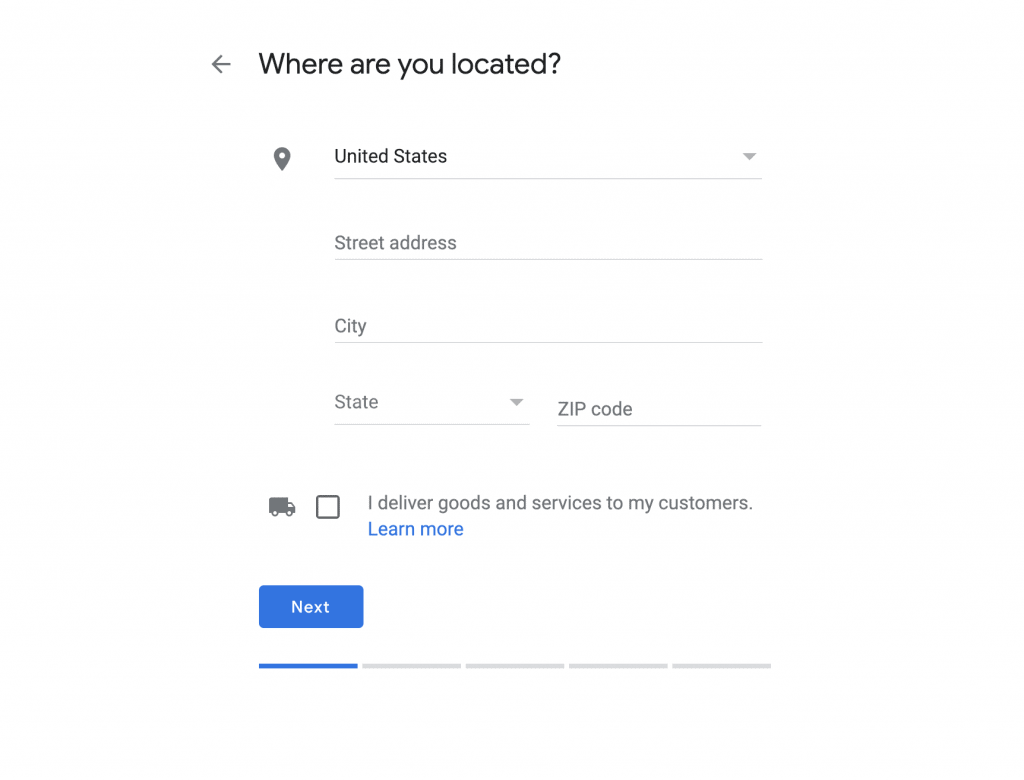 GMBs Location UI
