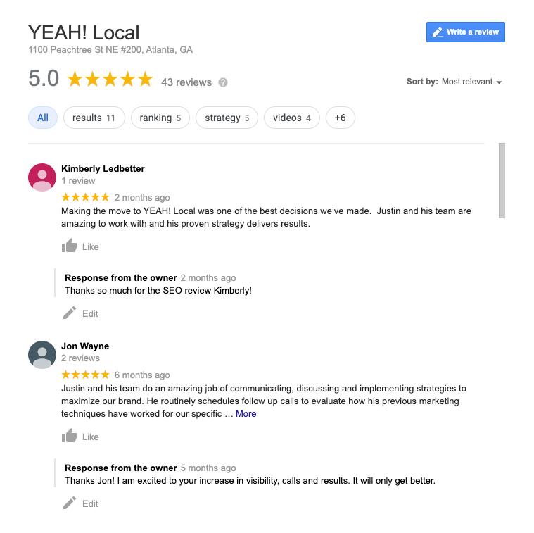 Google Reviews YEAH! Local
