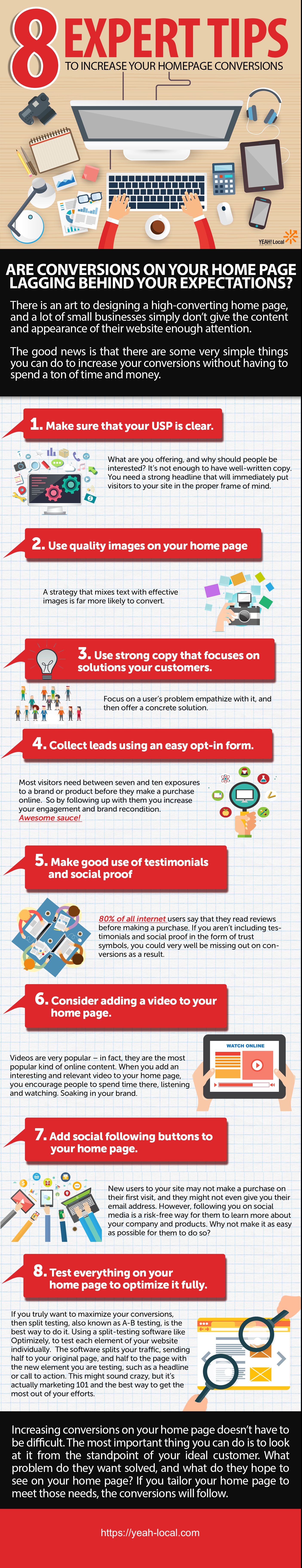 8 Expert Tips to Increase Your Homepage Conversions
